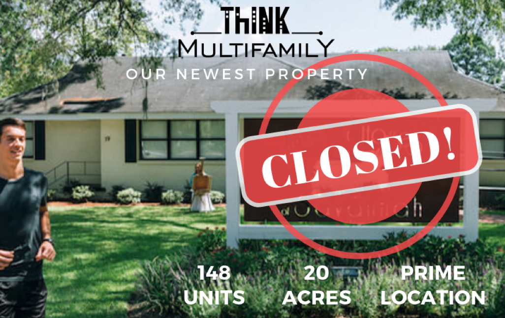 Think Multifamily Closes its 2nd Apartment Building Acquisition in Savannah, GA in the Last 6 Months!