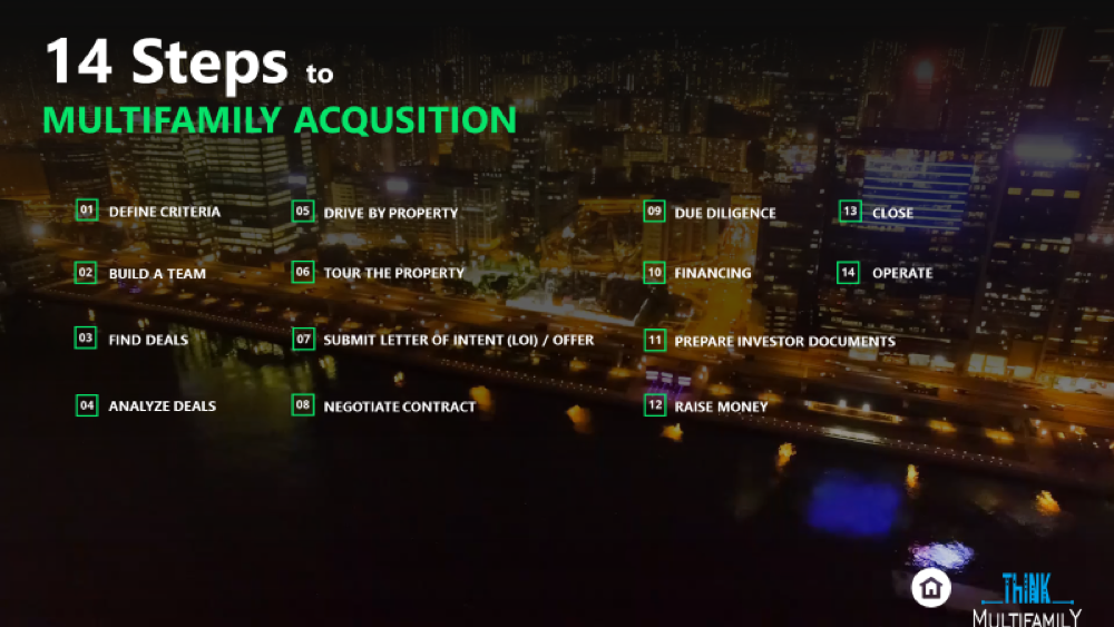 14 Steps to Multifamily Acquisition