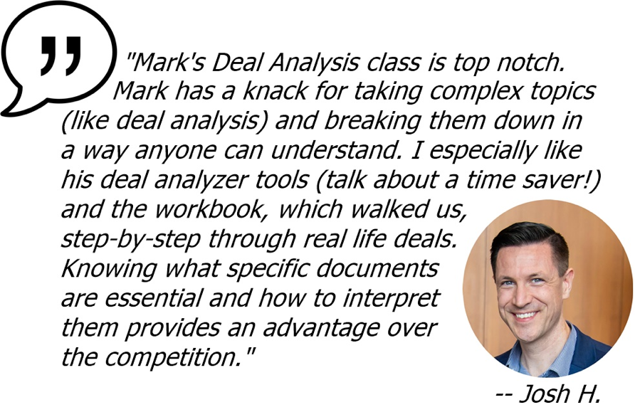 Reviews for Deal Analysis Workshop - Think Multifamily