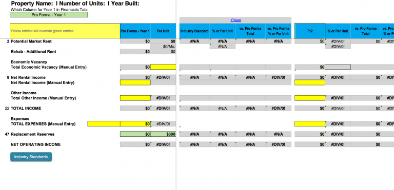 Detailed Deal Analyzer - Detailed Budget