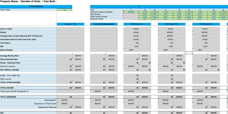 Detailed Deal Analyzer - Financials
